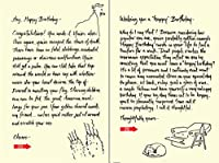 Quiplip Handwritten Yours Truly Birthday Cards 6-Pack (YT08116PCK) [並行輸入品]