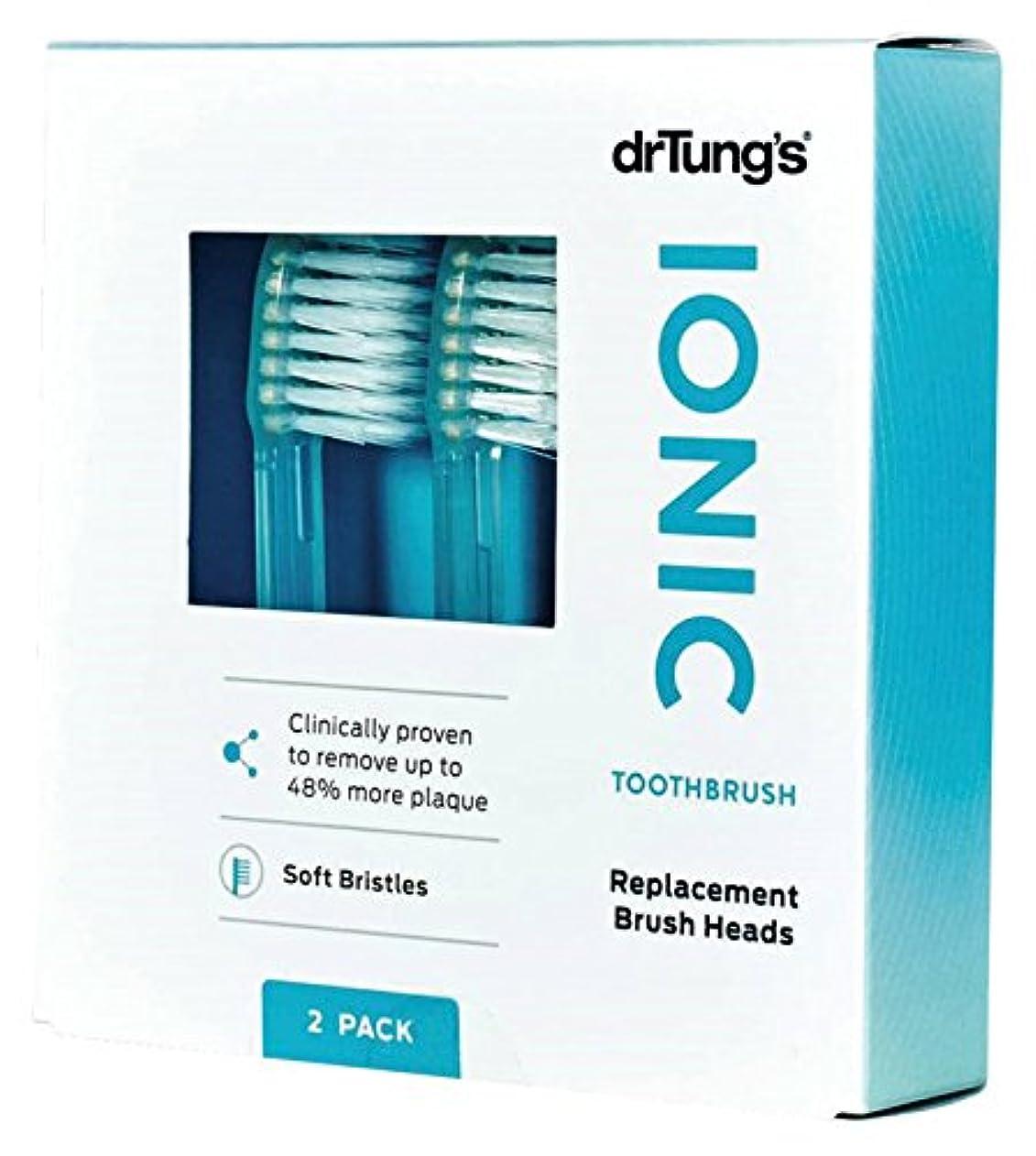 車タイピスト友だちDr. Tung's, Ionic hyG, Replacement Brush Heads, Soft, 2 Brush Heads