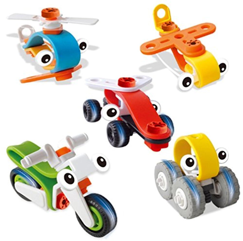 Branew 5点子供の教育玩具クリエイティブFight挿入されAssembledプラスチック木製ブロック