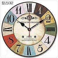 Luoshangqing 壁掛け時計サイレントムーブメント壁掛け時計ホームオフィスの装飾用リビングルームベッドルームとキッチンクロック壁防水吸引小さな温度計 (Color : Light Purple, サイズ : 14 In.)
