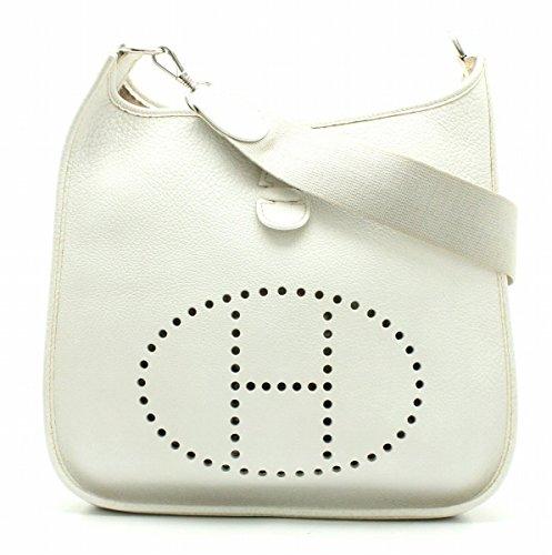 [エルメス] HERMES エヴリン エブリン1 PM ショルダーバッグ 斜め掛け トゴ ホワイト 白 □E刻印