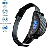 [Newest 2019] Rechargeable Bark Collar - Dog No Bark Collar-Upgraded Smart Detection Module w/Triple Anti Barking Modes: Beep/Vibration/Shock Dog Training Collars for Small, Medium, Large Dogs Breeds - Waterproof