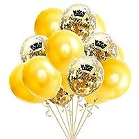B Blesiya 誕生日バルーン バルーン 風船 紙吹雪風船 お祝い 写真背景 記念日 6タイプ選べ - 誕生日