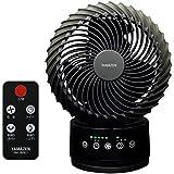 山善(YAMAZEN) (DCモーター搭載)18cm立体首振りサーキュレーター(静音モード搭載)(リモコン)(風量4段階) タッチスイッチ式 タイマー付 ブラック YAR-XD18(B)