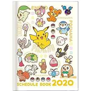 サンスター文具 ポケモン 手帳 2020年 A6 マンスリー 集合 S2950235 2019年 10月始まり