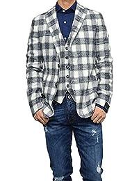 [TAGLIATORE(タリアトーレ)] メンズシングル2Bジャケット MONTECARLO/1SMC22K 77QEG107 ネイビー×ホワイト [並行輸入品]