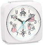 セイコー クロック 目覚まし時計 アナログ Disney Time ディズニータイム CRYSTAL SEASON クリスタルシーズン 数量限定 白 パール FD818W SEIKO