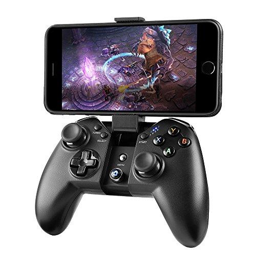 Madgiga bluetooth ゲームパッド コントローラー bluetooth pcゲーム コントローラー ワイヤレス/Bluetooth/有線接続/WindowsPC/Android/PS3/Samsung Gear VRなど対応 振動機能 高耐久ボタン USBケーブル同梱