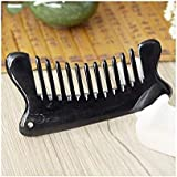 ZYDP 女性のための黒い木の櫛の毛の櫛のバッファローの角の広い歯のマッサージの櫛 (色 : 997)