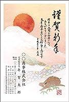 年賀状カラー印刷(官製はがき)「会社・店舗用09」100枚