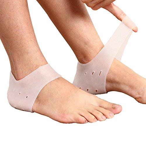 かかと保護カバー 足底筋膜炎 かかとの痛みを緩和 真菌感染を予防 かかとはじける防止 通気穴あり かかと足クッション かかと痛サポーター 4個入 男/女性適用