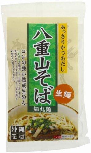 琉津 八重山そば生麺1食 あっさりかつおスープ 1食(130g)×1個