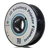 3D Solutech 3Dプリンター用 フィラメント マテリアル PLA樹脂 材料 1.75mm 1kg 12色選択可 - 100% アメリカ製 (黒)
