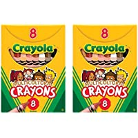 Crayola Multiculturalクレヨン 2 Pack Cray-MCULTUR-CRYN-8ct