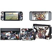 【E-game】 高品質 Nintendo Switch スキンシール 保護カバー (本体 ドック Joy-Con グリップ 4点セット) 液晶保護フィルム & オリジナルクロス付き 「モンハンXX」
