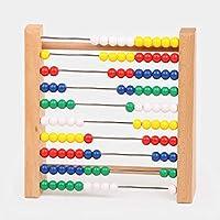 Zhenyu 木製 アバカス 赤ちゃん用数学玩具 レインボービーズ クラシック計算フレーム モンテッソーリ 木製玩具 学習 早期教育