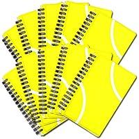 テニスノート 作戦ノート10冊セット テニスボール柄 リングタイプ【A6サイズ】