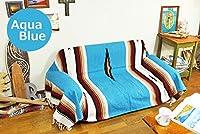 RUG&PIECE エルパソ サドル ブランケット Native Mexican Rug ネイティブ柄 メキシカン ラグ マット 215cm×145cm a