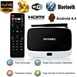 YUNTAB(JP) 四核 Android(アンドロイド) full 1080P TV Box TVチューナー・キャプチャーボード Remote Control RK3188T Android 4.4.2 搭載 RJ45 Mini PC XBMC/KODI 2GB/8GB Wi-Fi仕様 日本語対応 メモリ 32G拡張可能 3D支持 リモコン付き ドテレビボックス Streaming media TV player