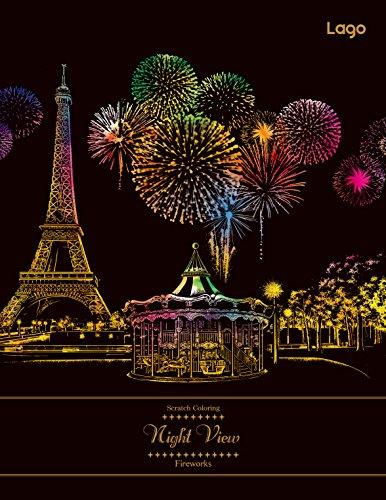 [ラゴデザイン] スクラッチカラーリング 花火 Scratch Coloring_Fireworks