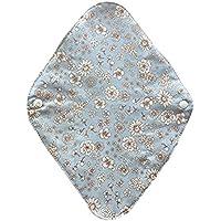 華布のオーガニックコットンの布ナプキンホルダー (約17×約23×約0.3cm) ボタニカルライトブルー