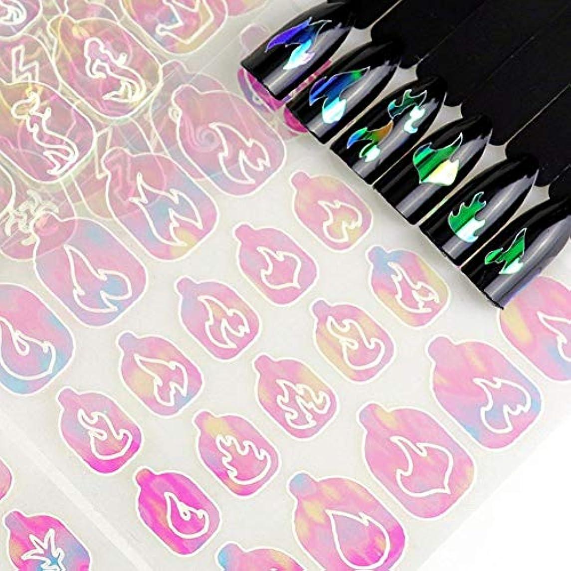 男らしさベット出版ネイルアートネイルのための多色3Dネイルのヒントアートステンシル中空ステッカー