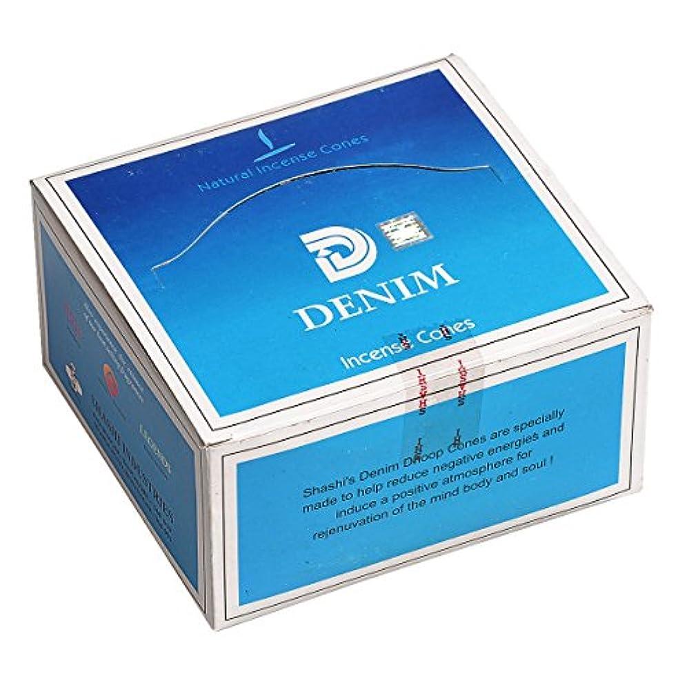 カレッジ衰える粘着性SHASHI(シャシ) デニム DENIM コーンタイプ コーンタイプ お香 12箱 セット [並行輸入品]