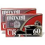 Maxell 109024 UR-60 Audio Cassette 2PK