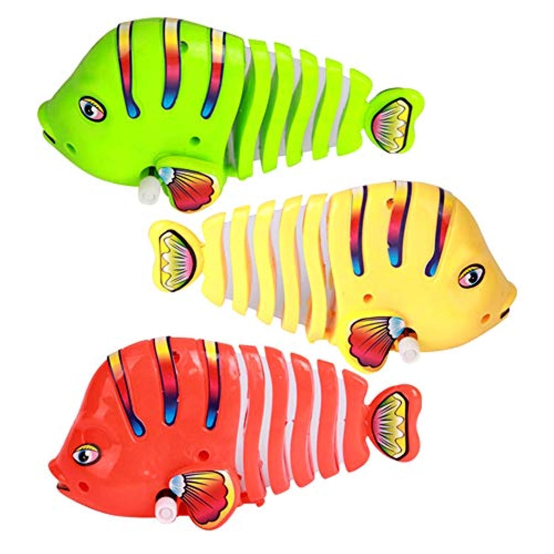 Tenflyer 1ピース子供キッズ魚のおもちゃテールスイング時計仕掛け早期教育かわいいギフト