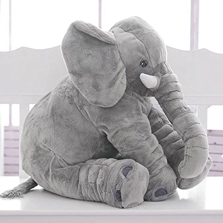 Newdance 象 ぬいぐるみ 象 抱き枕 クッション 象のぬいぐるみ おもちゃ 動物 ベビー枕 寝抱き枕 子供 出産お祝い 贈り物 リアルアフリカゾウ象 かわいい ふわふわで癒される 灰色 60cm