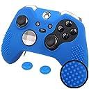 Xbox One Elite エリート オリジナル コントローラー用 ちりばめ シリコン スキン ケース 保護カバー x 1(ブルー) ティック カバー x 2