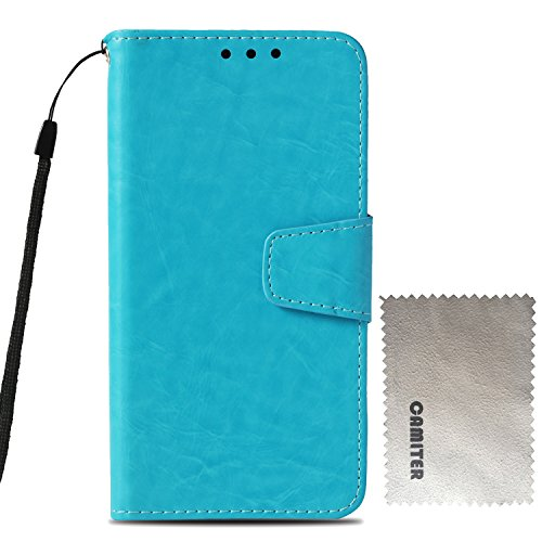 Samsung Galaxy S4 ケース 手帳型 Galaxy S4 カバー Camiter 高品質 PU合皮レザー カード収納 スタンド機能 マグネット式 財布型 フリップカバー 耐衝撃 高級感 おしゃれ (空色)