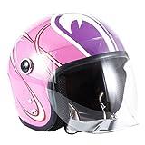 ジャムテックジャパン 72JAM バイクヘルメット ジェット SP TADAOモデル SP TADAO レディース(ピンク) レディースサイズ(55〜57cm)SPL-01
