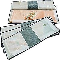 アストロ 着物 収納 ケース 不織布製 たとう紙より丈夫 通気性に優れた生地 (消臭 3方開き 4枚組) 171-49