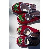 Noマシン生産プロセスのChinese Traditional Craftsハンドメイド布靴、刺繍靴Melaleuca子Later備考足長さと幅