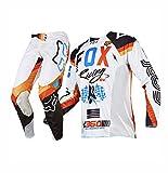 FOX フォックス360オフロード長袖Tシャツ上下セット吸汗、速乾、通気 [並行輸入品]F-4 (L/34)