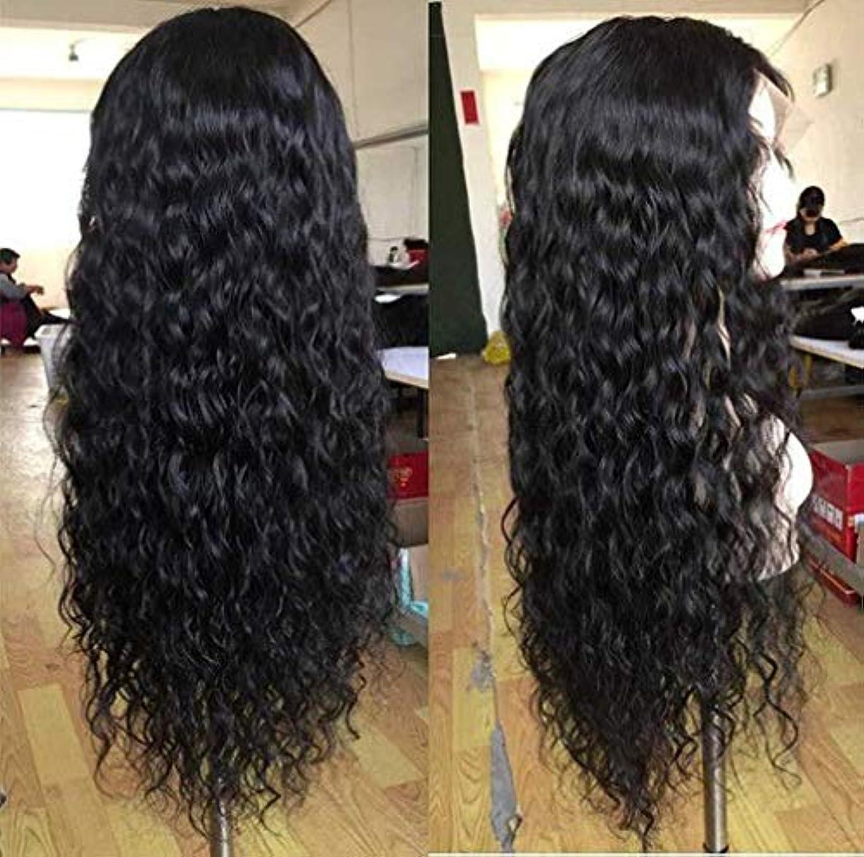 エンターテインメント船乗り予防接種女性かつらブラジルレース前頭ディープウェーブヘアウィッグレースフロント人間の髪かつらベビー髪ショートレミー150%密度