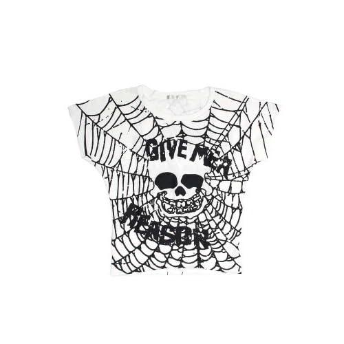 (エーシーディーシーラグ)ACDCRAG ウェッブスカルTシャツ (ホワイト/グレー)