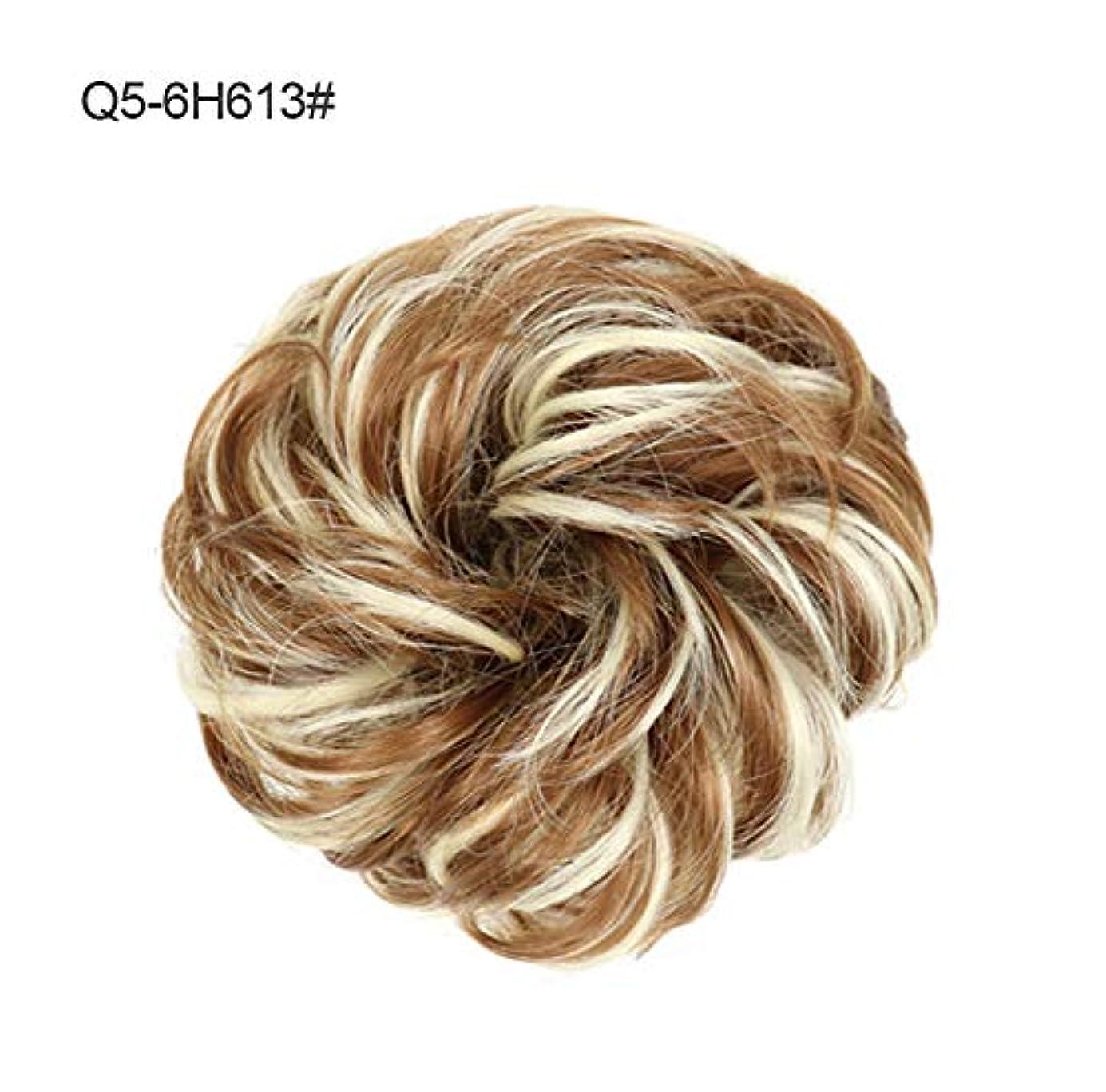 ドナウ川運命お気に入り乱雑なポニーテールシニョンドーナツ拡張機能、女性のためのシュシュ髪お団子巻き毛波状リボンアクセサリー