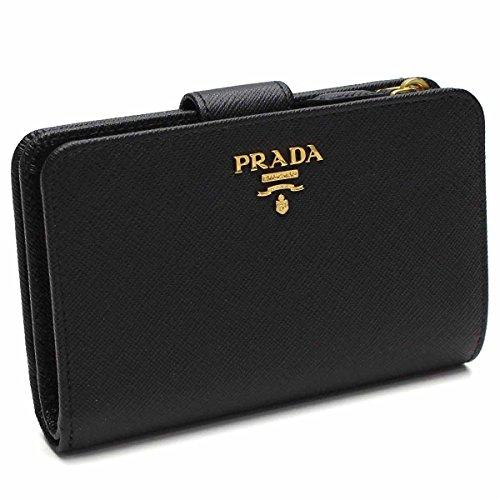 プラダ PRADA 二折財布小銭入れ付き 1ML225 QWA F0002 NERO ブラック [並行輸入品]