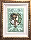 アルフォンス・ミュシャ 『ブルネット』(ビザンティン風の頭部) リトグラフ リクリエーション版画