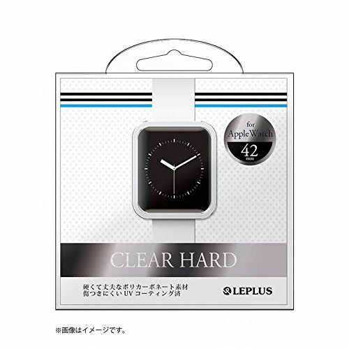 LEPLUS Apple Watch 42mm ハードケース 「CLEAR HARD」 クリア LP-AW42HGCL