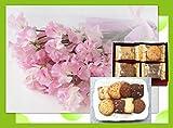 誕生日プレゼント ピンク スイートピー と フーシェ クッキー詰合せ ギフトセット お母さんへの誕生祝い/古希