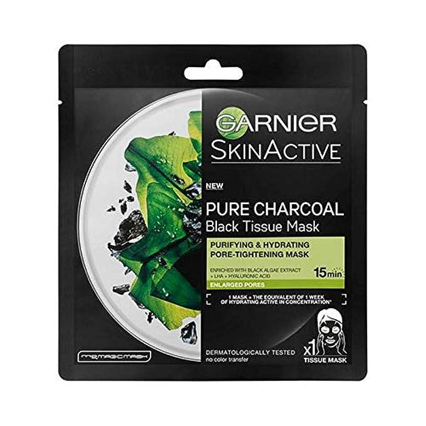 傾く消える矩形[Garnier] ガルニエSkinactive炭や藻類水和シートマスク - Garnier SkinActive Charcoal and Algae Hydrating Sheet Mask [並行輸入品]