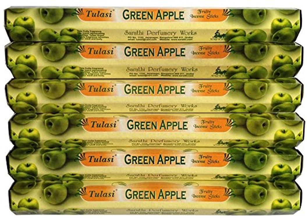 熟練した背が高い迷惑トゥラシ グリーンアップル 6個セット
