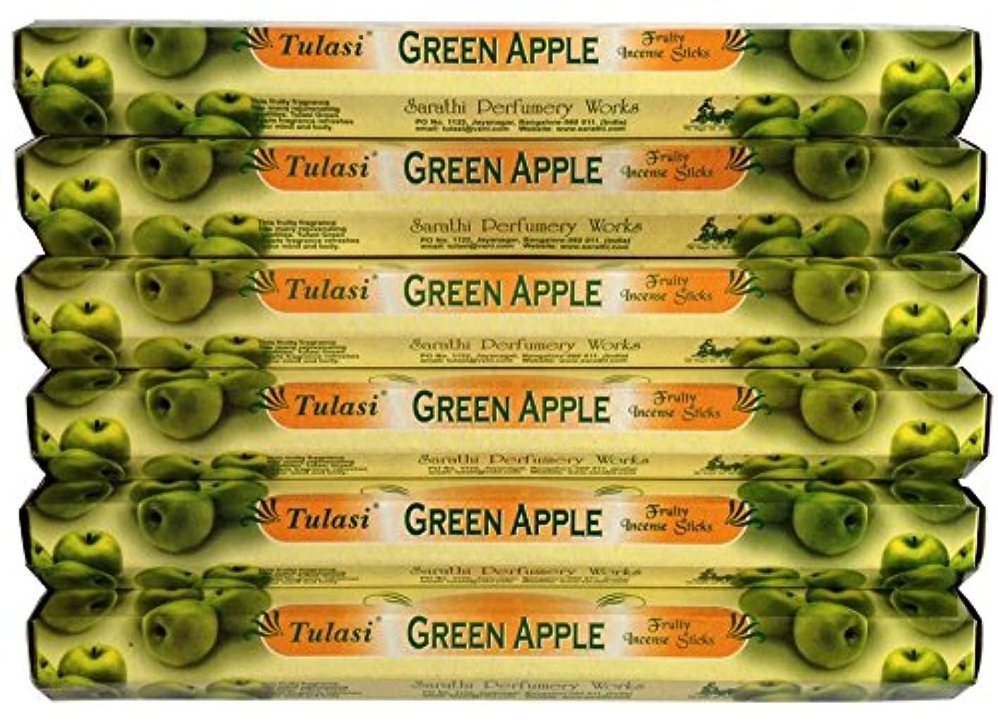 火曜日コークス一時解雇するトゥラシ グリーンアップル 6個セット