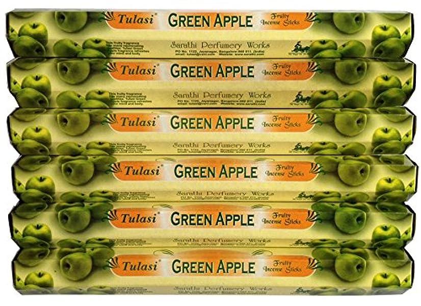 流産アクセントボタントゥラシ グリーンアップル 6個セット