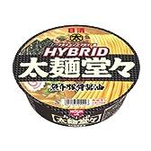 日清 HYBRID太麺堂々 魚介豚骨醤油 136g×12個
