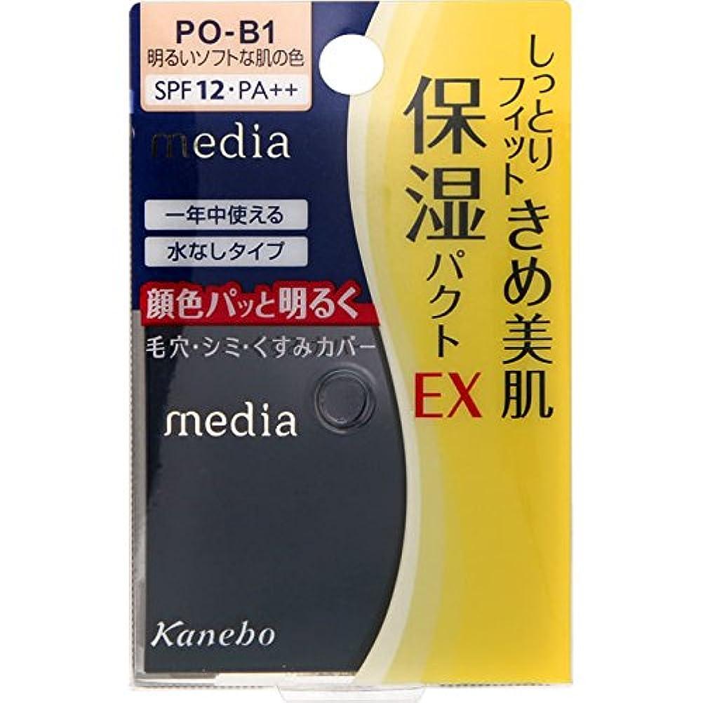 支配的顎用心するカネボウ メディア モイストフィットパクトEX PO-B1(11g)