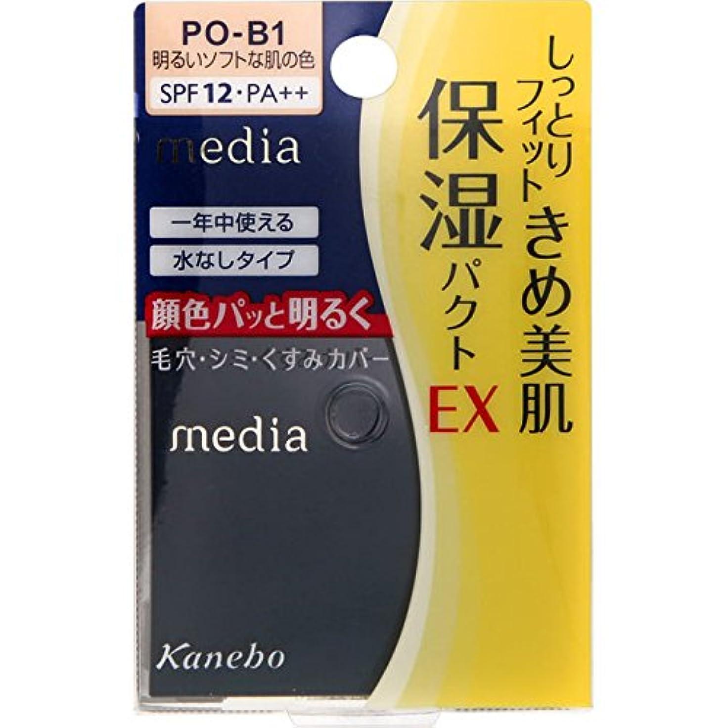 恐怖義務的絶滅させるカネボウ メディア モイストフィットパクトEX PO-B1(11g)